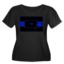 Pennsylvania Thin Blue Line Plus Size T-Shirt