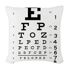 Eye Chart Woven Throw Pillow