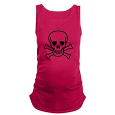 Skull and Bones Design Maternity Tank Top
