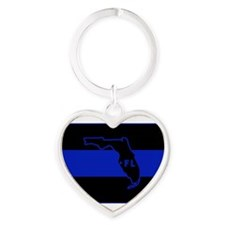 Thin Blue Line Florida Keychains