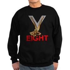 V8 Engine Power Pinup Sweatshirt
