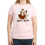 Retro Aunts Rock Women's Pink T-Shirt