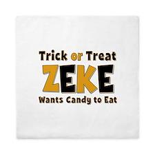 Zeke Trick or Treat Queen Duvet