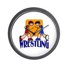 Wrestling Wall Clock