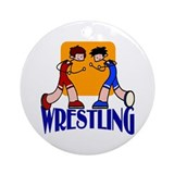 Wrestling Ornament (Round)