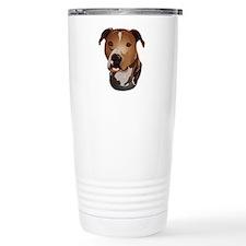Pitbull head portrait Travel Mug