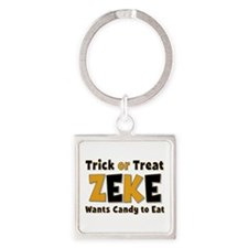 Zeke Trick or Treat Square Keychain