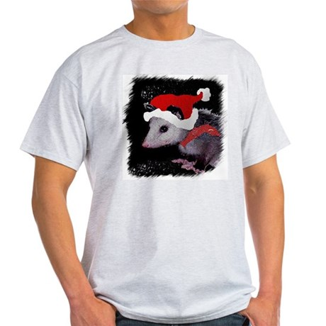 Possum Santa Ash Grey T-Shirt