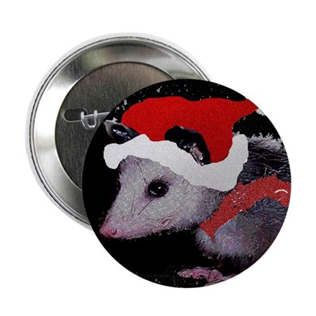 "Possum Santa 2.25"" Button (100 pack)"