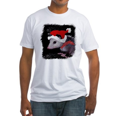 Possum Santa Fitted T-Shirt