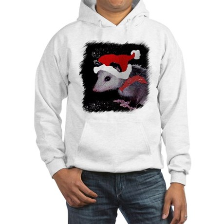 Possum Santa Hooded Sweatshirt
