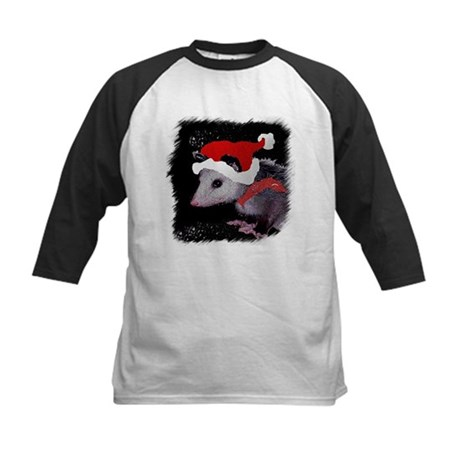 Possum Santa Kids Baseball Jersey