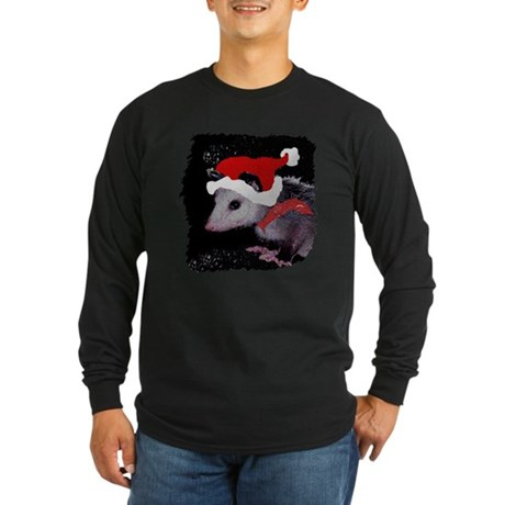 Possum Santa Long Sleeve Dark T-Shirt