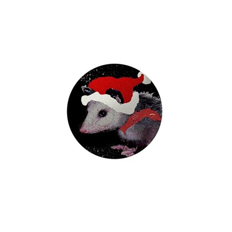 Possum Santa Mini Button