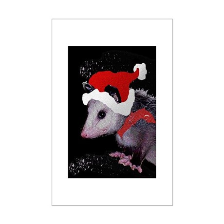 Possum Santa Mini Poster Print