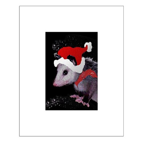 Possum Santa Small Poster