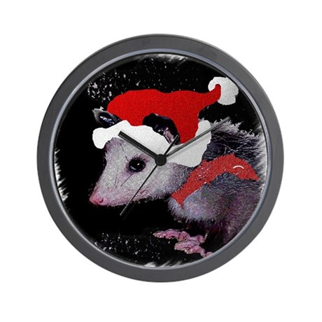 Possum Santa Wall Clock