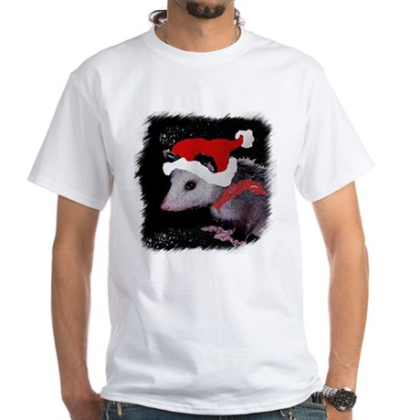 Possum Santa White T-Shirt