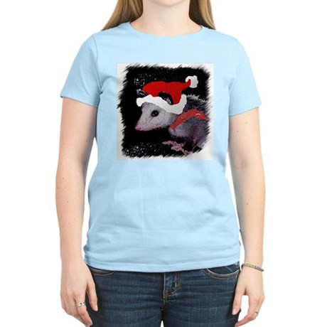 Possum Santa Women's Pink T-Shirt