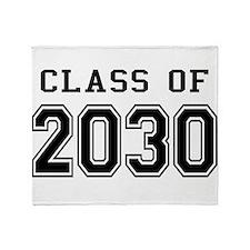 Class of 2030 Throw Blanket