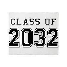 Class of 2032 Throw Blanket
