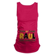Raul Trick or Treat Maternity Tank Top