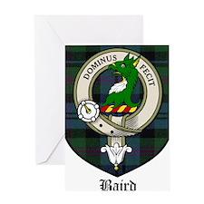 Baird Clan Crest Tartan Greeting Card