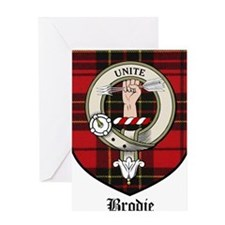 Brodie Clan Crest Tartan Greeting Card