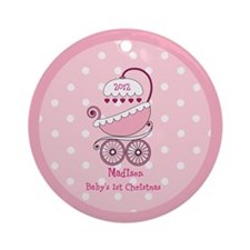 Personalized Baby Girl Christmas Ornament