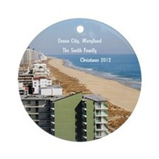 Ocean City, Maryland Personalized Christmas Orname