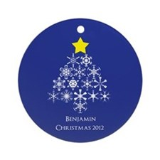 Personalized Snowflake Christmas Tree