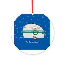 Personalized Retro Christmas Trailer Ornament