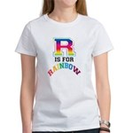 R is for Rainbow Women's T-Shirt