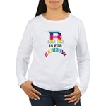 R is for Rainbow Women's Long Sleeve T-Shirt