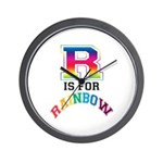 R is for Rainbow Wall Clock