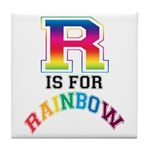 R is for Rainbow Tile Coaster