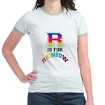 R is for Rainbow Jr. Ringer T-Shirt