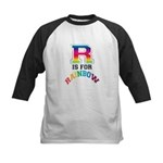 R is for Rainbow Kids Baseball Jersey