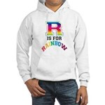 R is for Rainbow Hooded Sweatshirt