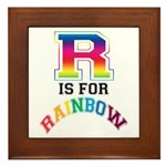 R is for Rainbow Framed Tile