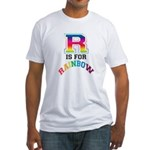 R is for Rainbow Fitted T-Shirt