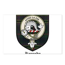 Kennedy Clan Crest Tartan Postcards (Package of 8)