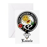 Lennie Clan Crest Badge Greeting Cards (Pk of 20)