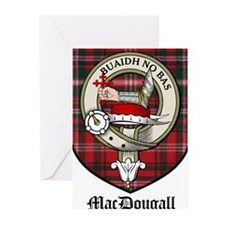MacDougall Clan Crest Tartan Greeting Cards (Pk of
