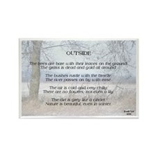 Cute Nature poems Rectangle Magnet (10 pack)
