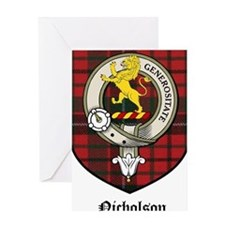 Nicholson Clan Crest Tartan Greeting Card