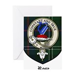 Rose Clan Crest Tartan Greeting Card