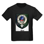 Rose Clan Crest Tartan Kids Dark T-Shirt