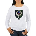 Rose Clan Crest Tartan Women's Long Sleeve T-Shirt