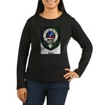 Rose Clan Crest Tartan Women's Long Sleeve Dark T-